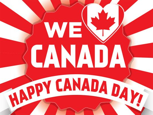 Canada Day Lawn Sign - Star Burst Background