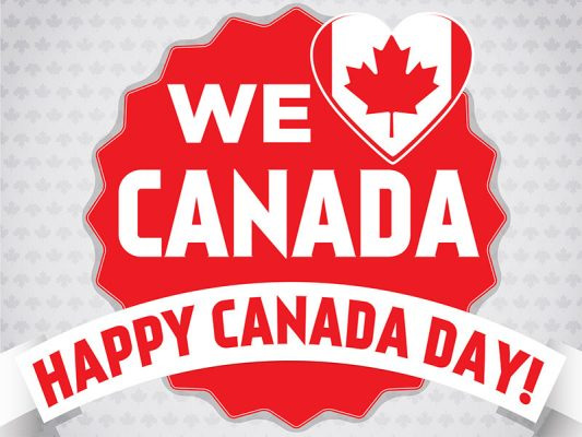 Canada Day Lawn Sign - White Background