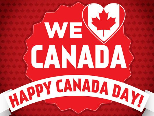 Canada Day Lawn Sign - Red Background